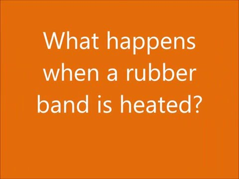 Heating a rubber band
