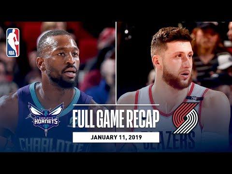 Video: Full Game Recap: Hornets vs Trail Blazers | Block Party At The Moda Center