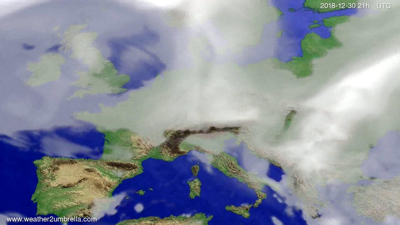 Cloud forecast Europe 2018-12-27