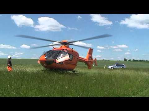 Alraft: Kradfahrer verletzt, Rettungshubschrauber