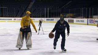 Predators hit the ice for a game of basketball HORSE by NHL