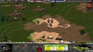 AOE | 2vs2 Random | Chim Sẻ Đi Nắng - ChipBoy vs BiBi - VaneLove | Ngày 7-6-2017 | BLV: G_man