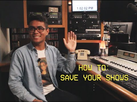 Saving Your Show in College Radio Station