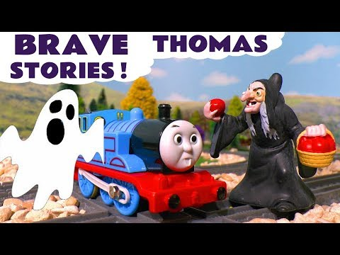 Thomas The Tank Engine Scary Toy Stories with Play Doh Stop Motion Halloween Ghosts and Witches TT4U