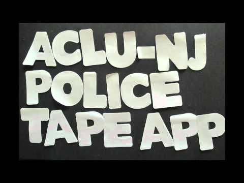 Video of ACLU-NJ Police Tape