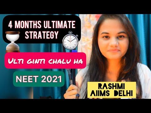 4 months ultimate Neet 2021 Strategy, Countdown is on, RASHMI Aiims Delhi