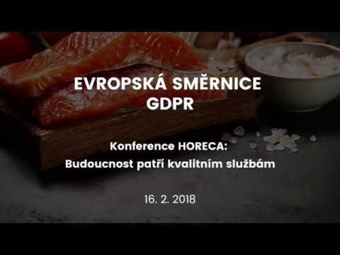 Konference HORECA: GDPR video & prezentace