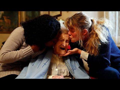 Ιταλία: Έσβησε 117 κεράκια η μακροβιότερη γυναίκα στον κόσμο