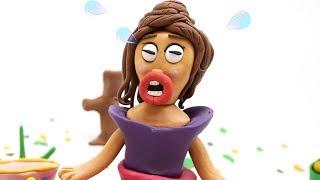 Princess in Muddy Dresses Stop Motion Kids Cartoon For Girls