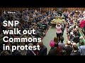 Scottish National Party wa out of Commons in protest