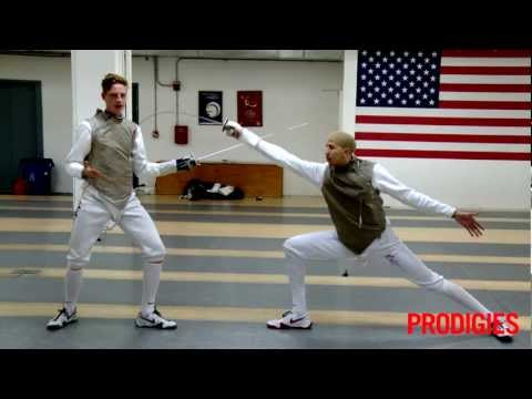fencing - Top-ranked US Fencer Race Imboden and his teammate Miles Chamley-Watson demonstrate three fencing fundamentals to get you moving like an Olympic athlete. En ...