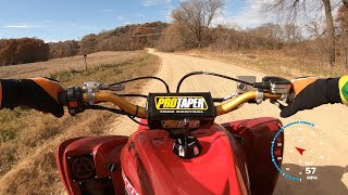 6. 2019 Yamaha Raptor 700 gravel road GoPro test