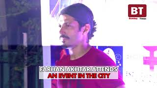 Farhan Akhtar and Shah Rukh Khan attend an event in the city