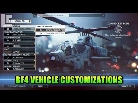 Battlefield - Hey guys. Lets take a look at the new vehicle customization menu in BF4. LevelCap's Computer Hardware: http://astore.amazon.com/leve0f-20 Get a LevelCap t-sh...