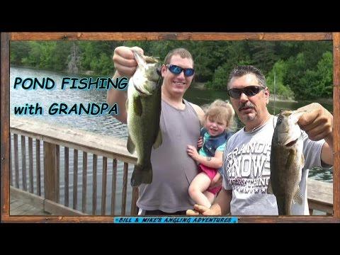POND FISHING with GRANDPA - BASS & BLUEGILL_Horg�szat vide�k