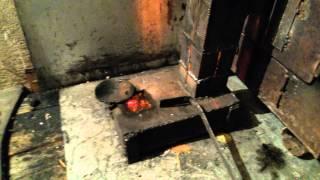 Комбинированная печь на отработке и дровах  2