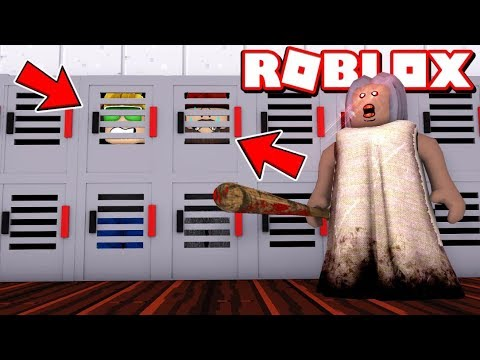HIDING FROM CRAZY GRANNY In ROBLOX HORROR GAME