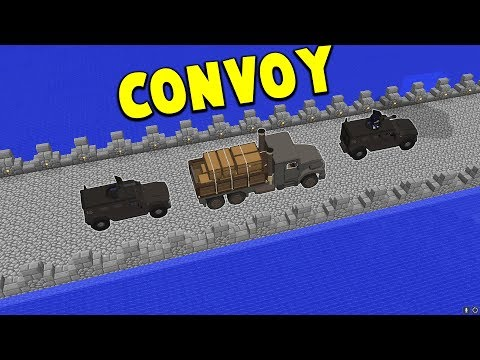 The CONVOY.. (MOVING VALUABLES) | Minecraft WAR #20