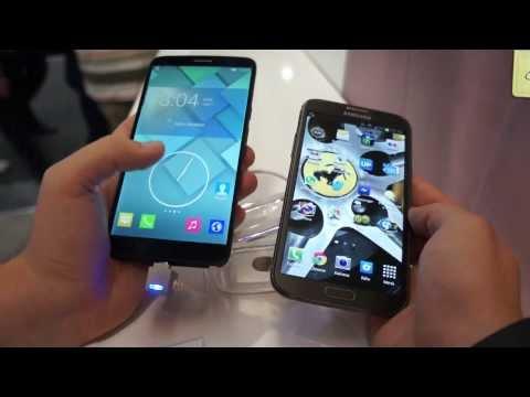 Alcatel One Touch Hero vs. Samsung Galaxy Note 2 comparison english (видео)