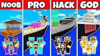 Video Minecraft: FAMILY BOAT SHIP PRISON HOUSE BUILD CHALLENGE - NOOB vs PRO vs HACKER vs GOD in Minecraft MP3, 3GP, MP4, WEBM, AVI, FLV Juni 2019