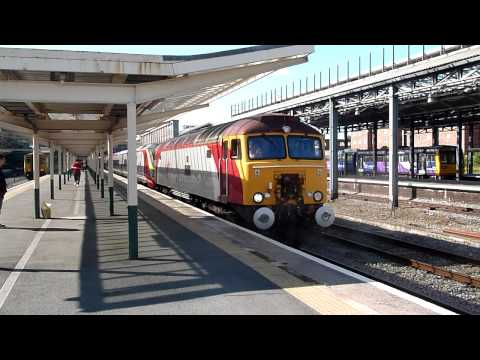 Virgin Pendolino Drag Departs Chester
