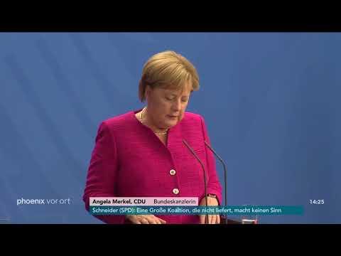 Bundeskanzlerin Angela Merkel zu den Ausschreitungen  ...