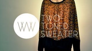 How to Make a Two-Toned Sweater - YouTube