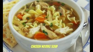 Happy memorial day! This is my crock pot chicken noodle soup! This made a lot of soup. I would cut down the chicken a little or add more broth because there ...