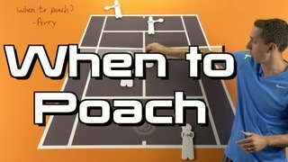 Tennis Highlights, Video - When to Poach - Doubles Tennis Lesson - Doubles Strategy Session