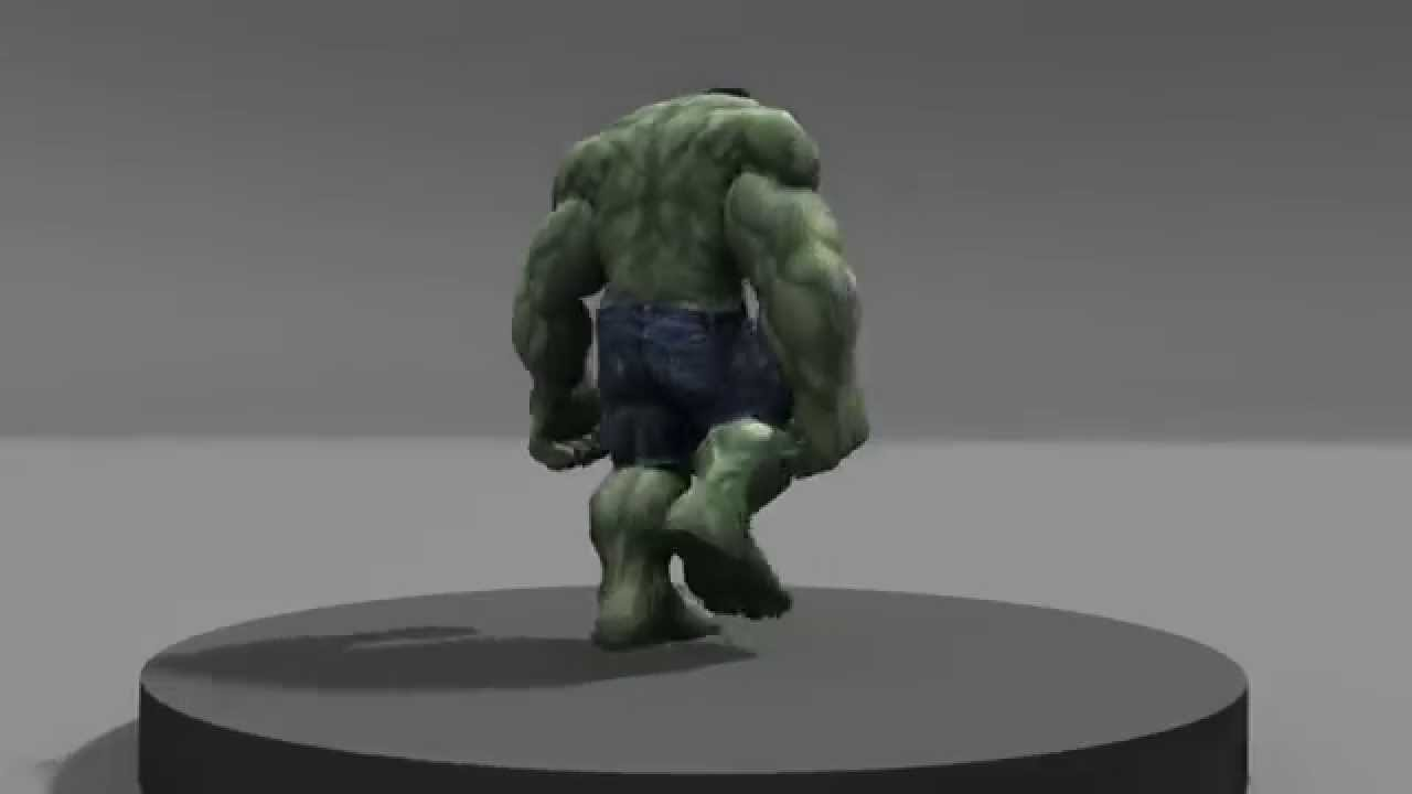 Hulk walk animation cycle