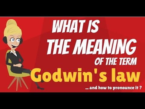 What is GODWIN'S LAW? What does GODWIN'S LAW mean? GODWIN'S LAW meaning & explanation