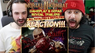 MORTAL KOMBAT 11 Gameplay & Geras Reveal Trailers + All Fatalities - REACTION!!! by The Reel Rejects
