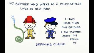 Non defining vs defining relative clauses video lesson