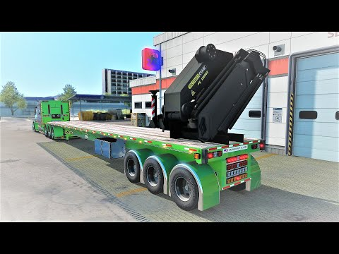 Transcraft tl2000 trailer with crane 1.38