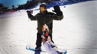 Today Goober Media Brings to you Nerf War: Snowboard Battle. In this Nerf War, James and Anna head to the slopes with some Nerf guns for and awesome duel. NEW VIDEOS EVERY SATURDAY!Follow me on Social Media:Twitter:https://twitter.com/annakouskyInstagram:  http://instagram.com/annakouskyGoogle Plus:https://plus.google.com/u/0/+AnnaKousky/posts/HoevMPHZQQcMy Other Channel: www.youtube.com/user/AnnaKousky