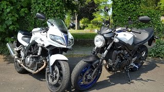 9. Suzuki SV650 vs SV650S motovlog review | Visordown road test