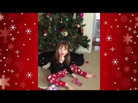 Cat surprises 3 year old girl for Christmas