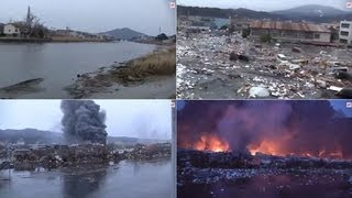 Nonton Japan tsunami 2011 video, Horrifying footage charts total destruction of a town. Film Subtitle Indonesia Streaming Movie Download