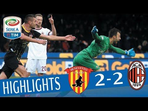 Benevento - Milan 2-2 - Highlights - Giornata 15 - Serie A TIM 2017/18