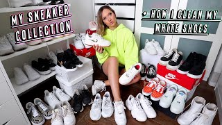 my sneaker collection + how i clean my white shoes by Alisha Marie Vlogs