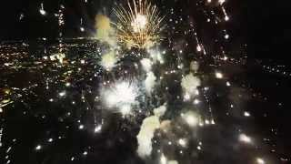 BE SURE TO WATCH IN HD! Flying through a firework show with a DJI Phantom 2 and filming it with a GoPro Hero 3 silver. The quad was not damaged. https://www....