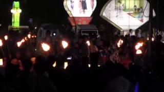 羽黒の夏祭り10・ファイアーダンス・羽黒小児童