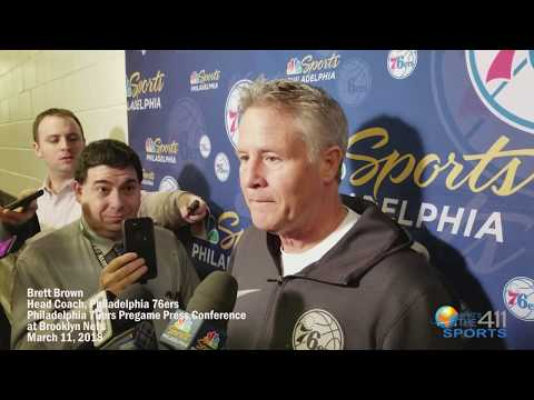 Brett Brown with Media Before Philadelphia 76ers Game Against Brooklyn Nets | What's The 411Sports