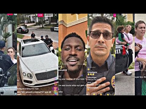 Antonio Brown Gets His Baby Mother Arrested For Stealing His Bentley Live on IG Live | 1/13/20
