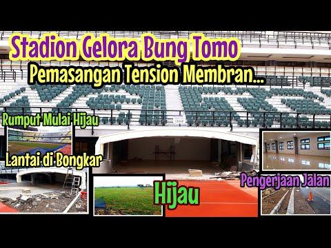 Stadion Gelora Bung Tomo Pemasangan Tension Membran Lorong Pemain | Stadion GBT Terbaru