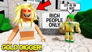 I Became a GOLD DIGGER in ROBLOX And Pretended To Be RICH