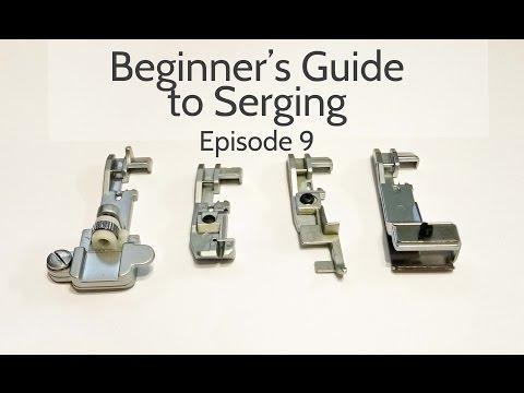 Beginners Guide to Serging (Ep.9): Elasticator Foot