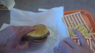 Columbus (TX) United States  city pictures gallery : Eating a TRIPLE MEAT WHATABURGER - Columbus, Texas