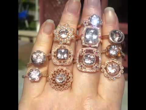 Morganite Rose Gold Rings