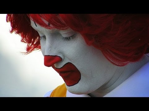 at - Americans are eating less McDonald's. Because it's ratchet? Because it's gross? Either way, Ronald McDonald is sad. Buy some awesomeness for yourself! http://www.forhumanpeoples.com/collections/so...